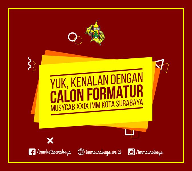 Inilah Calon Formatur PC IMM Surabaya 2017-2018