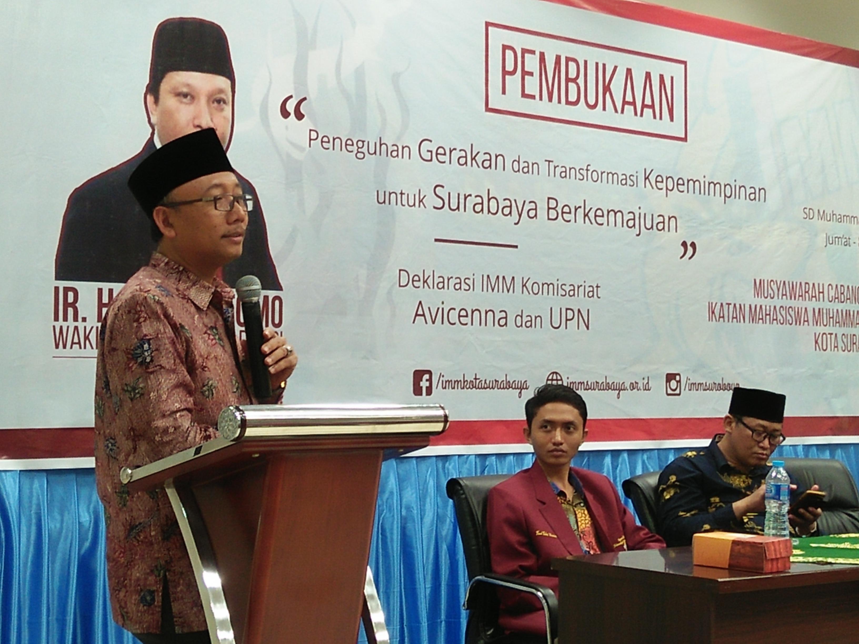 Suli Daim dalam Pembukaan Musycab IMM Surabaya: Jiwa Pemimpin Berkarakter Itu Ada Dalam Kader IMM