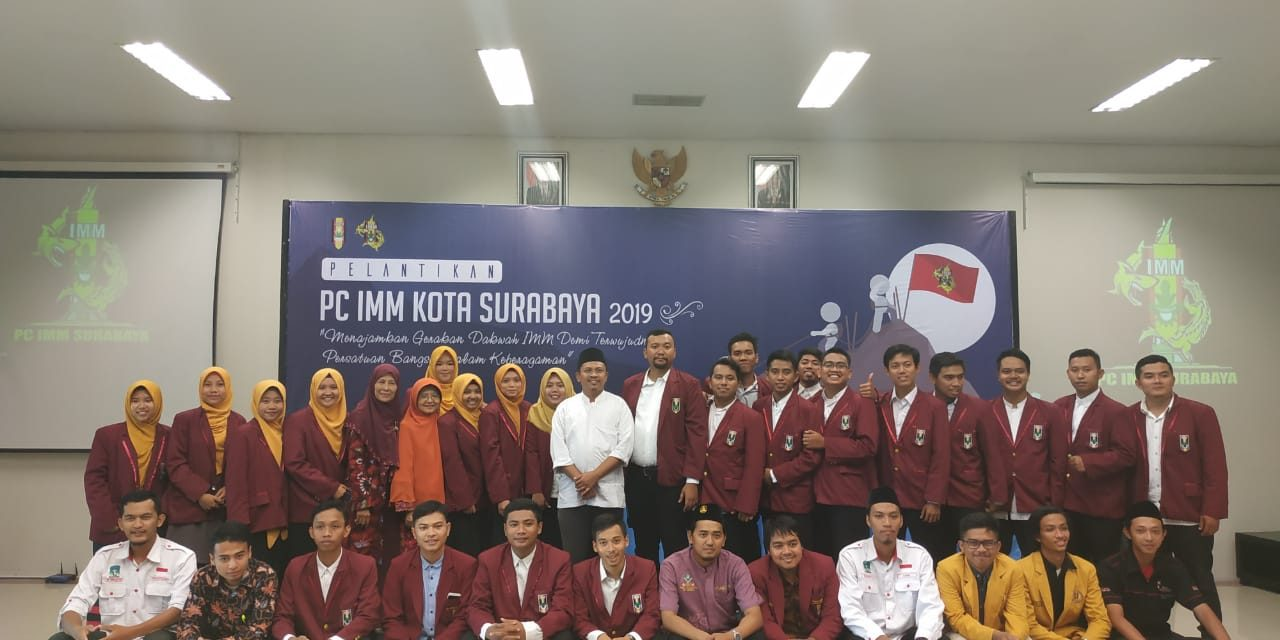 Pelantikan PC IMM Kota Surabaya, Ketum Baru: IMM Harus Menajamkan Gerakan