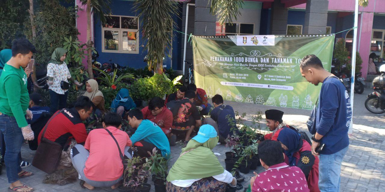 Berkolaborasi dengan Lindungi Hutan Surabaya, IMM Surabaya Adakan Penanaman 1000 Bunga dan Toga di Pesisir